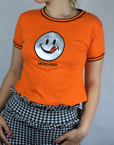 Authentic Moschino Cheap and Chic Smiley Top