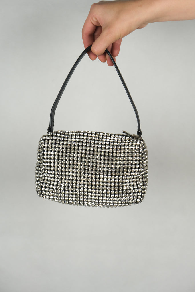 Authentic Alexander Wang Wangloc Rhinestone Mini Pouch