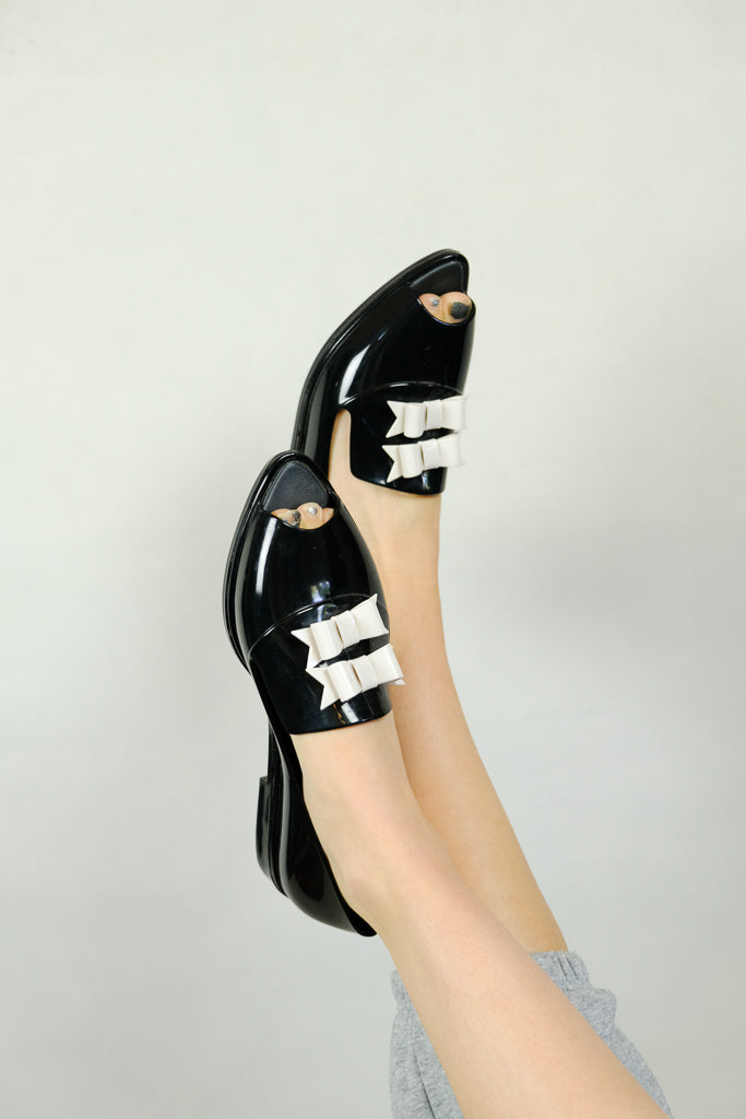 Melissa X Karl Lagerfeld Ribbon Brouge Shoes
