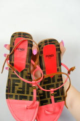 Authentic Fendi Zucca Monogram Sandals