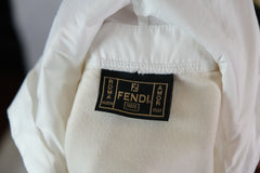 Authentic Fendi Roma Hooded Crop Top