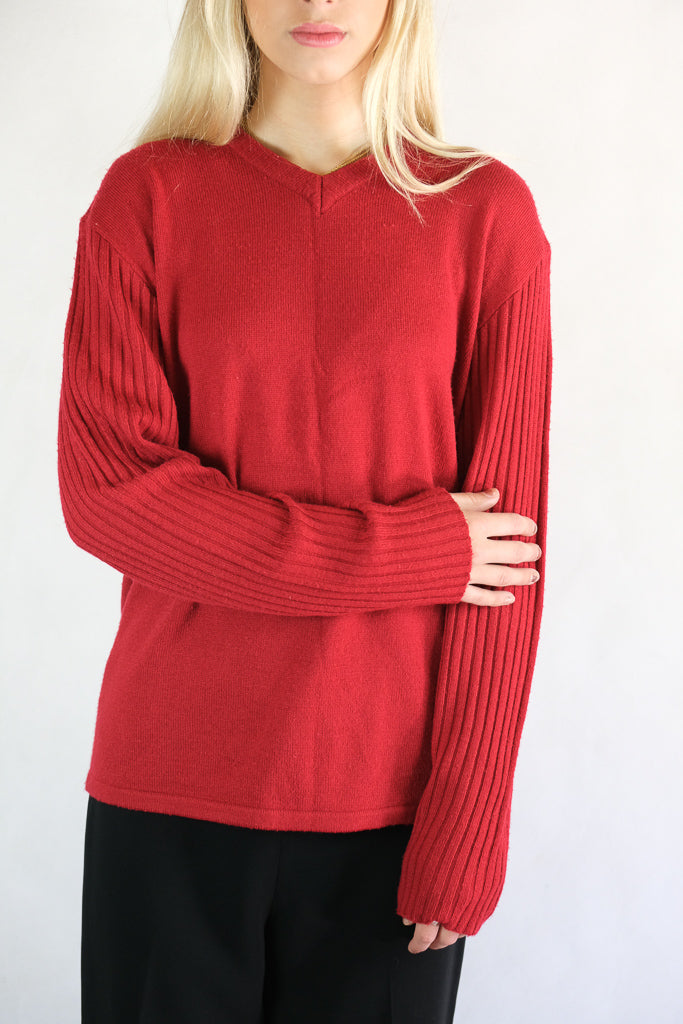 Authentic Elle Homme Red Knitted Jumper