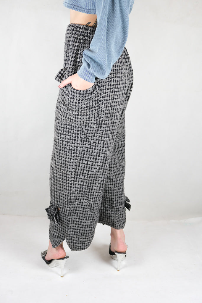 Authentic Comme Des Garcons Robe Chambre Wool Wide Pants