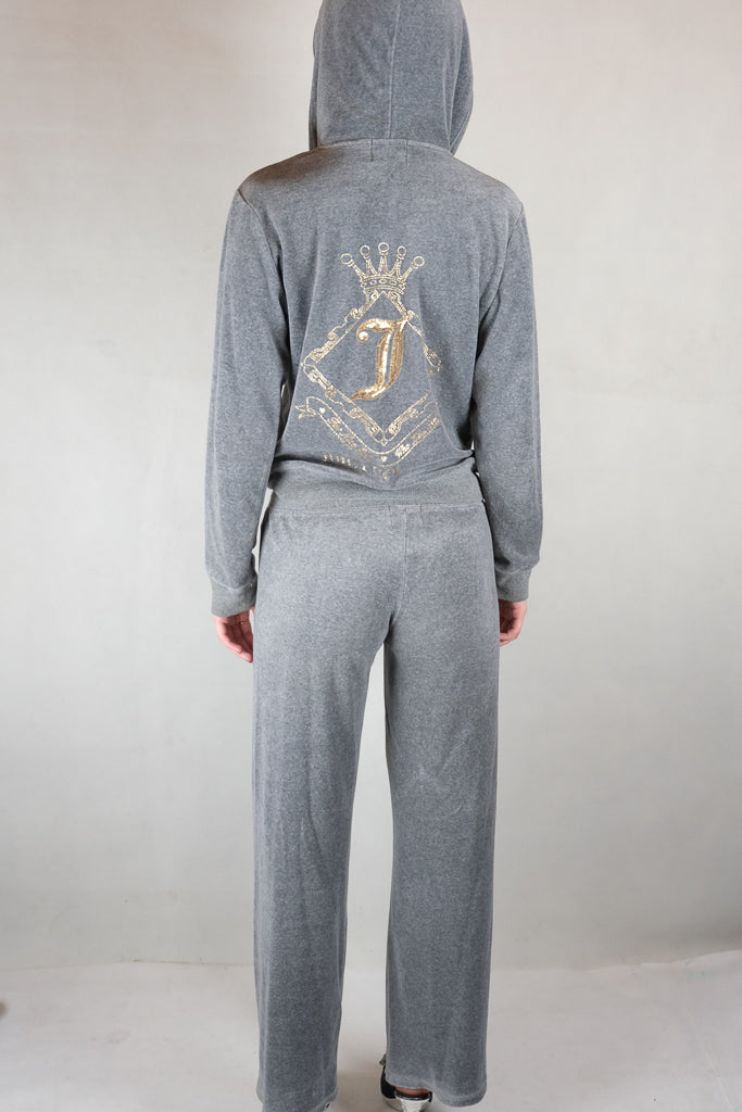 Authentic Juicy Couture Grey Velour Tracksuit