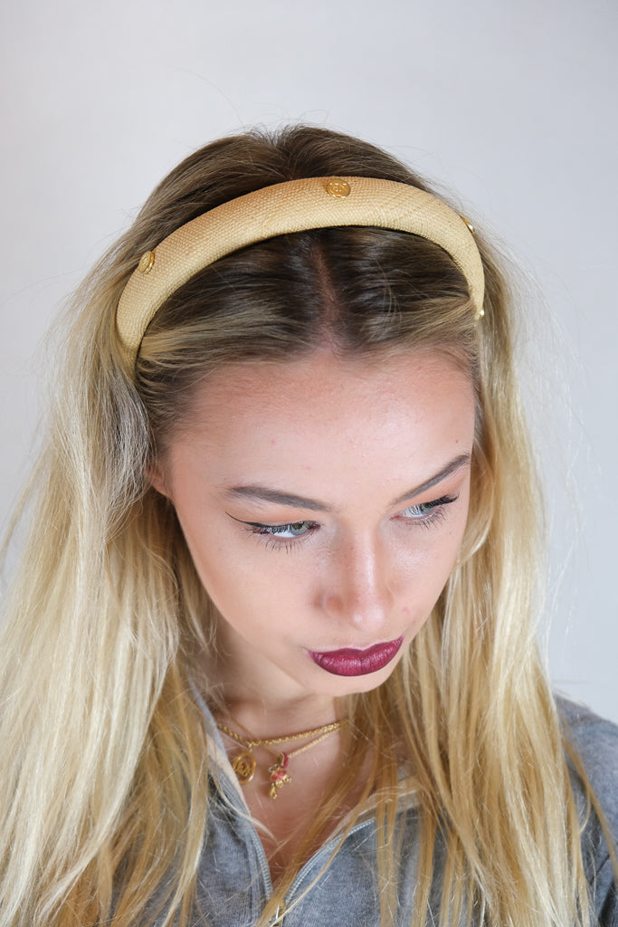Authentic Vintage Nina Ricci Logo Headband