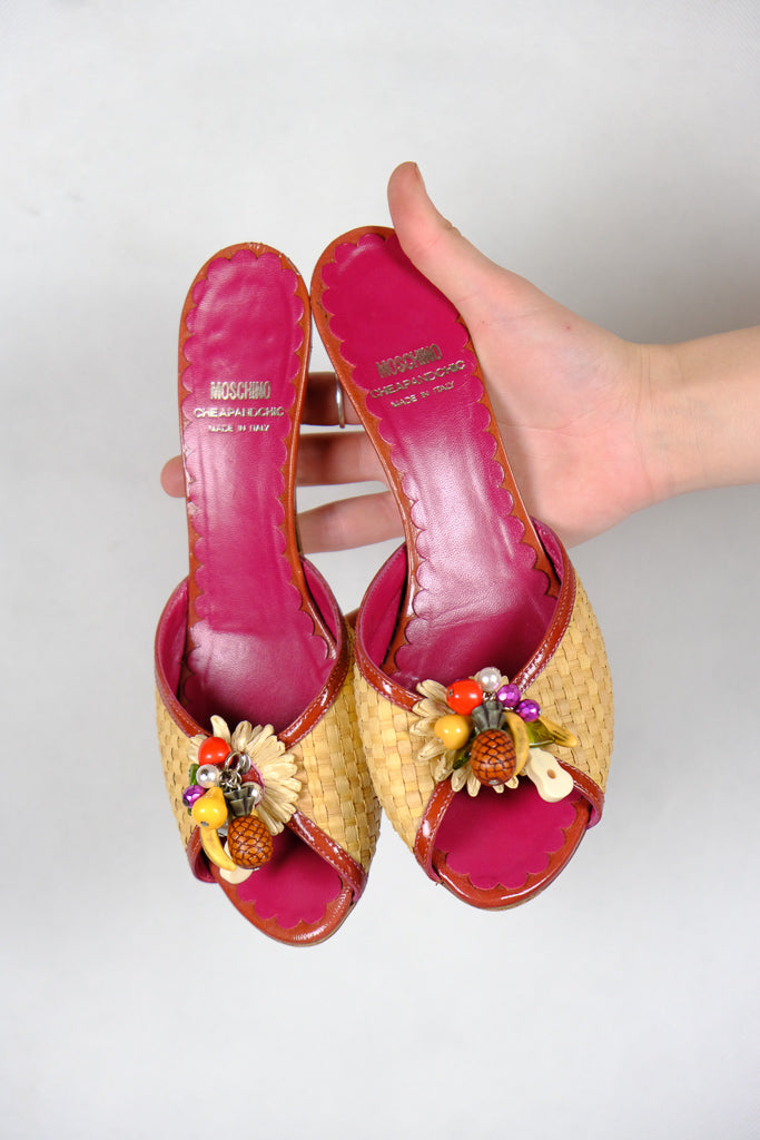 Authentic Moschino Cheap and Chic Tropical Kitten Heels