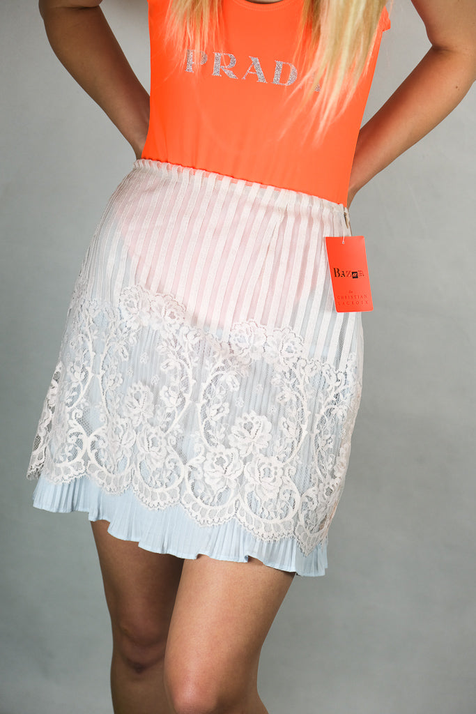 Authentic Brand New Christian Lacroix Lace Skirt AU 10