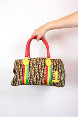 Authentic Christian Dior Rasta Diorissimo Boston Bag *RARE*
