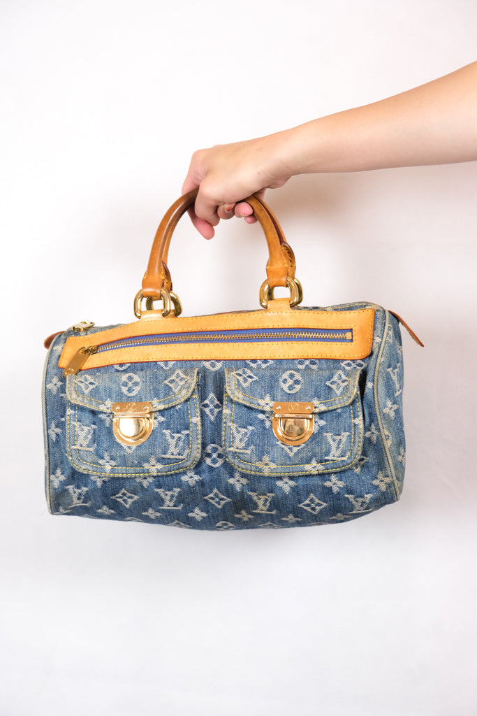 Authentic Louis Vuitton Denim Neo Speedy Bag