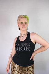 Authentic Christian Dior J'adore Dior Rhinestone Tank Top