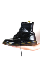 Authentic Dr Martens Original Black Leather Boots UK 6.5