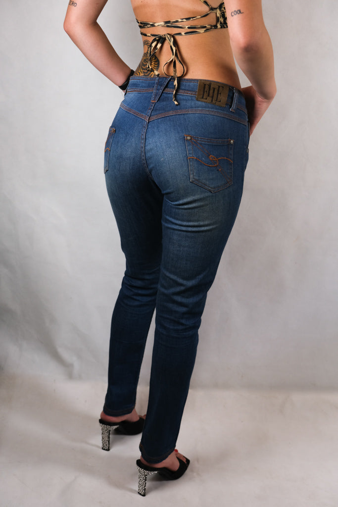 Authentic Elle Skinny Mid Rise Jeans