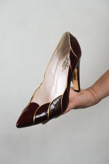 Authentic Emilio Pucci Vintage Patent Leather Pointed Heels