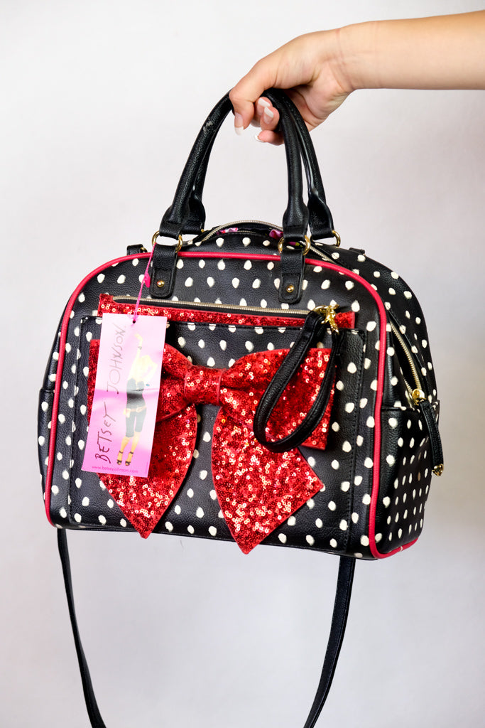 Authentic Betsey Johnson BRAND NEW Bow Bag