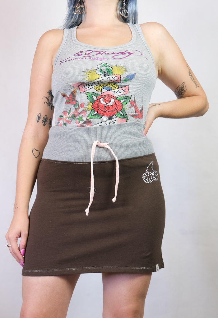 Authentic Frutta Cherry Track Skirt