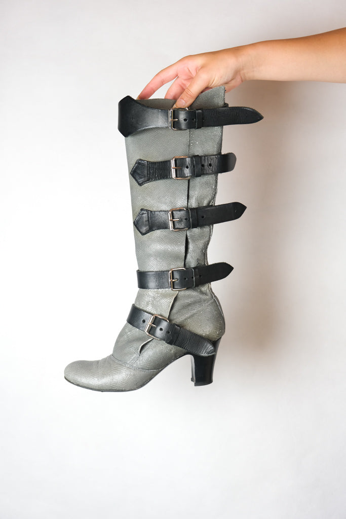 Authentic Vivienne Westwood Leather Buckle Boots