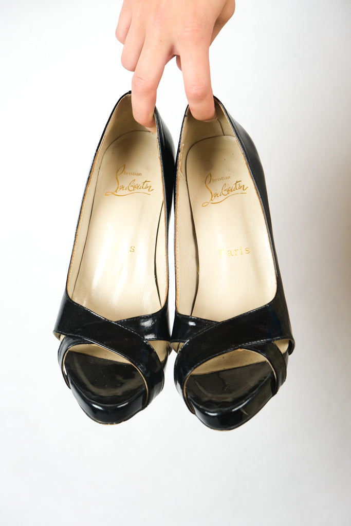 Authentic Christian Louboutin 'Shelley' Patent Leather Pump Heels