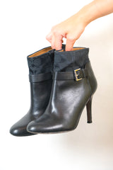 Authentic Coach Monogram Leather Booties