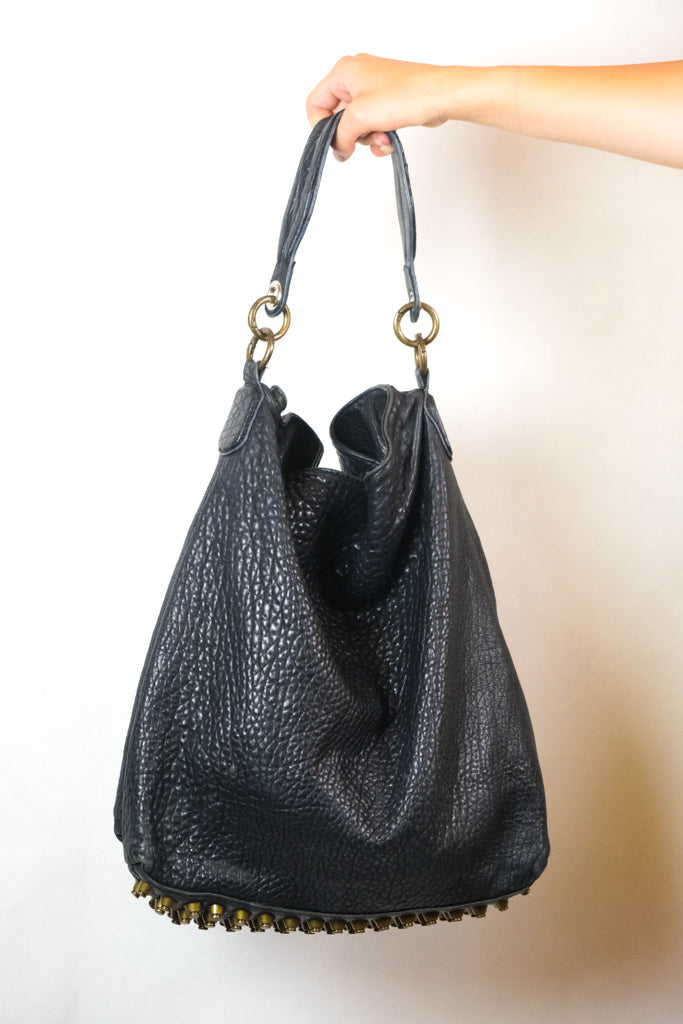 Authentic Alexander Wang Textured Leather Shoulder Bag