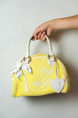 Authentic Juicy Couture Yellow Terry Towelling Bag