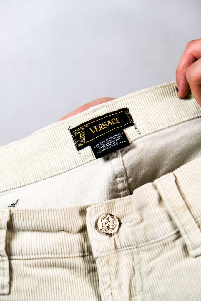 Authentic Vintage Versace Corduroy Mens Logo Pants