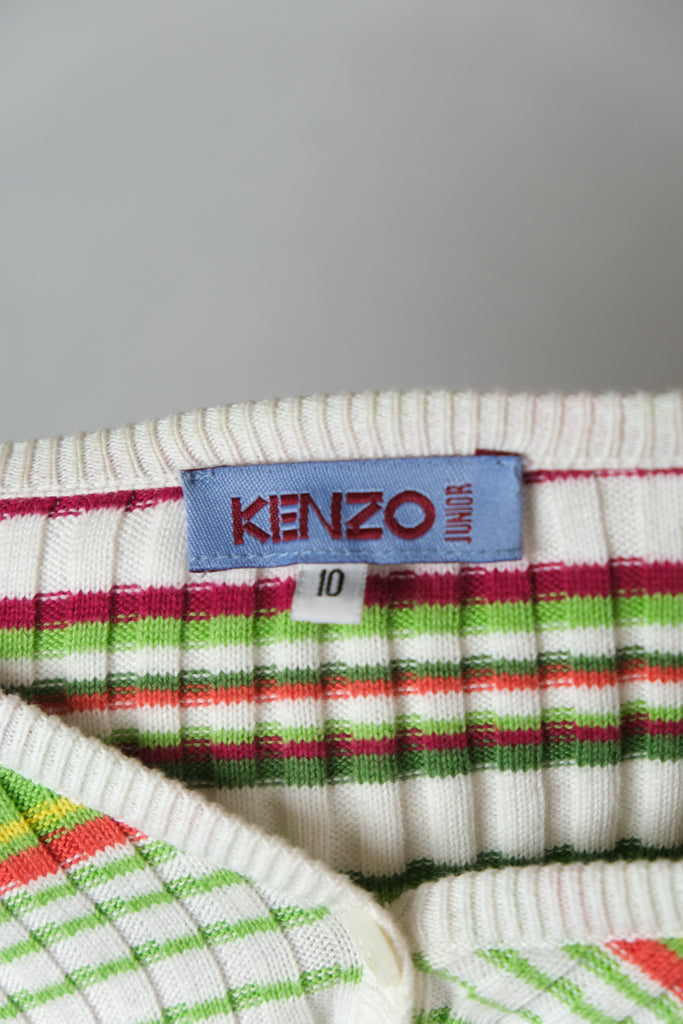 Authentic Kenzo Junior Striped Cardigan