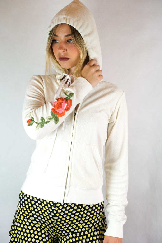 Authentic Juicy Couture Embroidered Rose Jacket