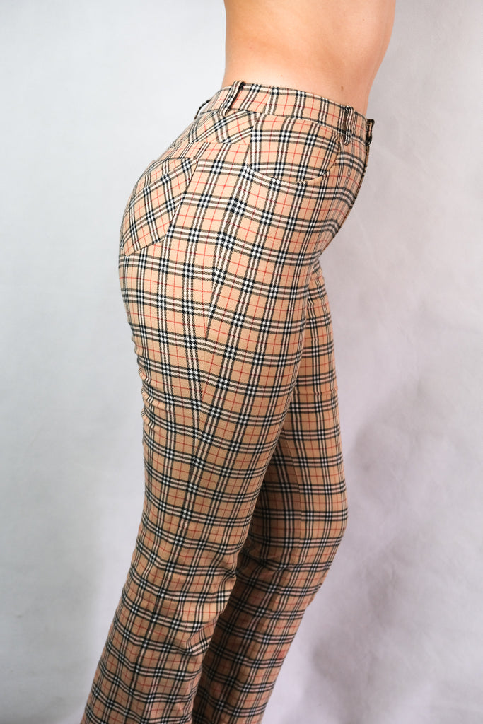 Authentic Burberry Nova Check Wool Pants