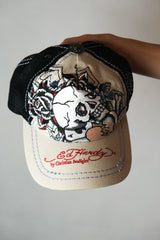 Authentic Early 2000s Ed Hardy Flash Cap