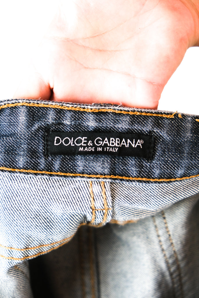 Authentic Dolce & Gabbana Logo Plaque Jeans