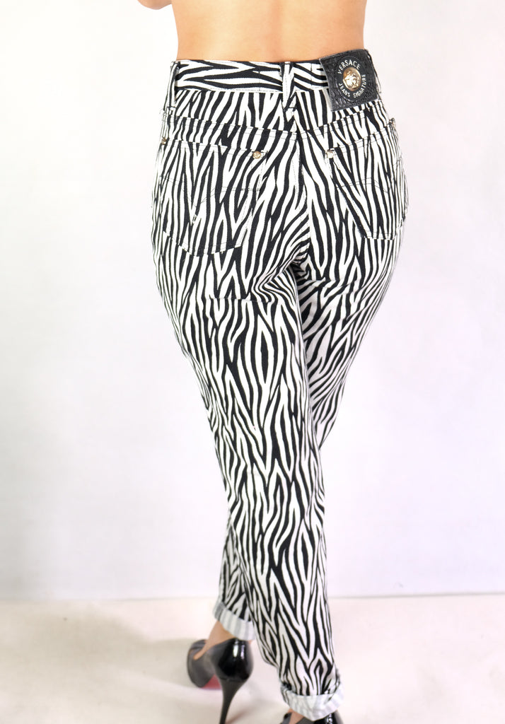 Authentic Vintage Versace Zebra Jeans