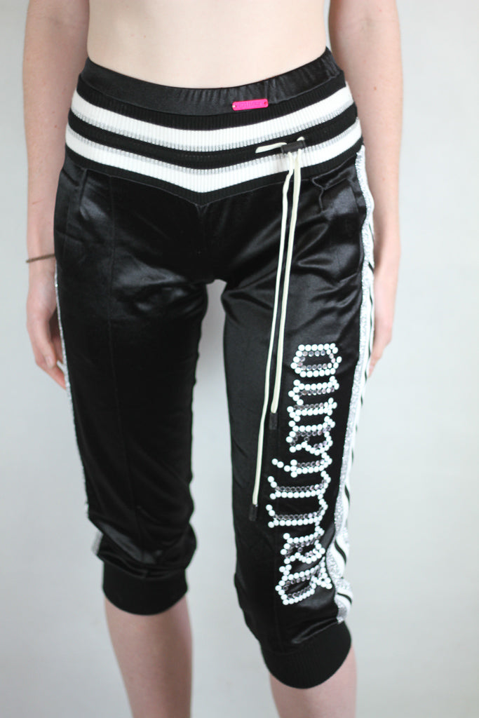 Authentic John Galliano 3/4 Length Logo Trackpants
