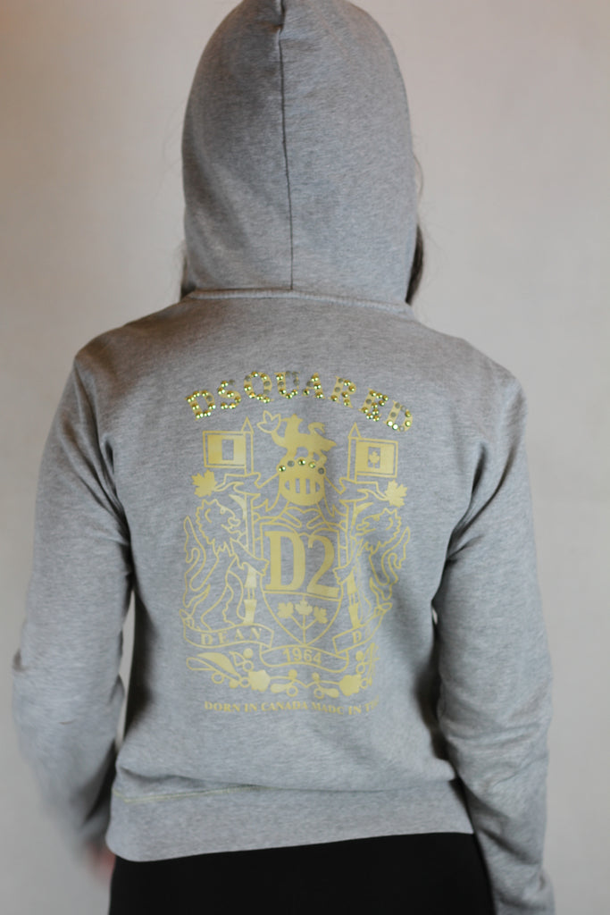 Authentic D'Squared Embellished Logo Hoodie