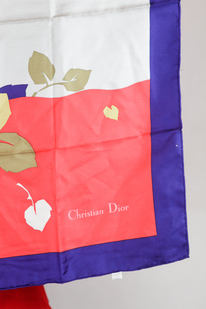 Authentic Christian Dior Nylon Printed Scarf