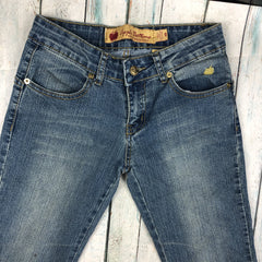 Authentic Apple Bottom Iconic Apple Pocket Flare Jeans