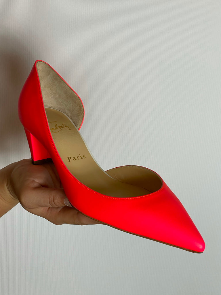 Authentic Christian Louboutin Neon Pink Heels