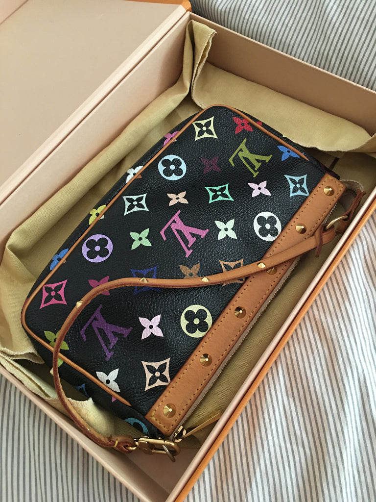 Authentic Louis Vuitton Murakami Monogram Pochette