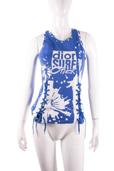Authentic Christian Dior Surf Chick Lace Up Tank
