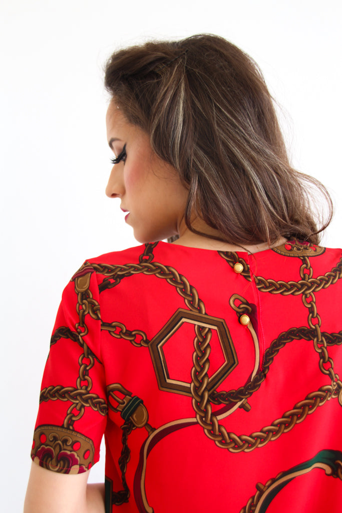 Esti Blouse in Red