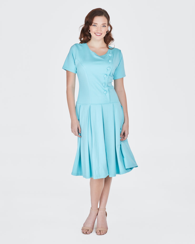 Jacqueline Dress in Seafoam