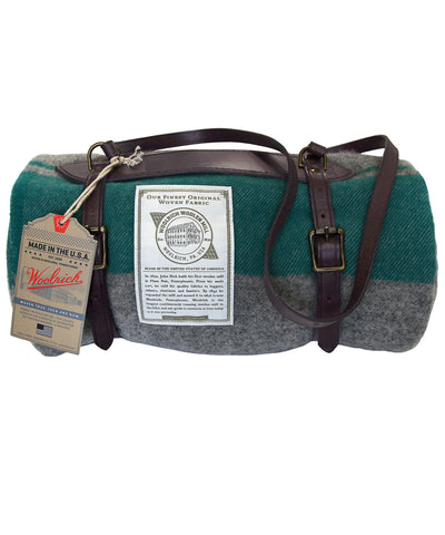 Woolrich - Leather Harness Blanket Carrier