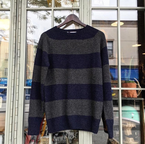 Harley of Scotland - Striped Crewneck Pullover