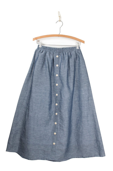 Coast - Bicycle Midi Skirt - Indigo size L only!