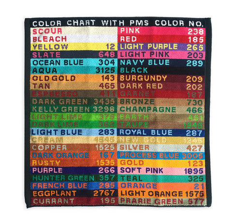M CARTER CO. - PANTONE COLOR CHART HAND TOWEL