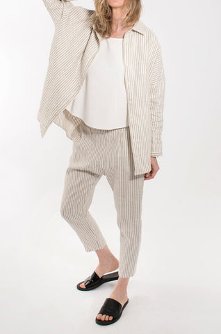 Coast - Boardwalk Cropped Trouser - Sandstone Stripe