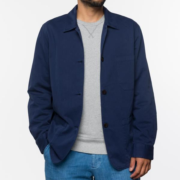 Portuguese Flannel - CHORE JACKET NAVY