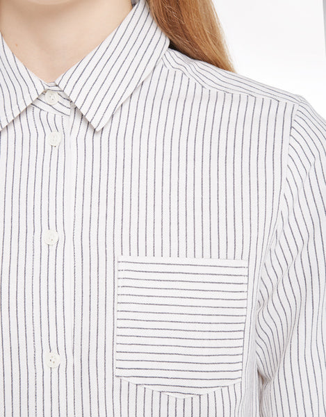 YMC - Linen Stripe Shirt - size medium only!