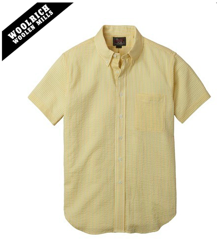 Woolrich x Mark McNairy - Seersucker Button Down - Size L Yellow Only