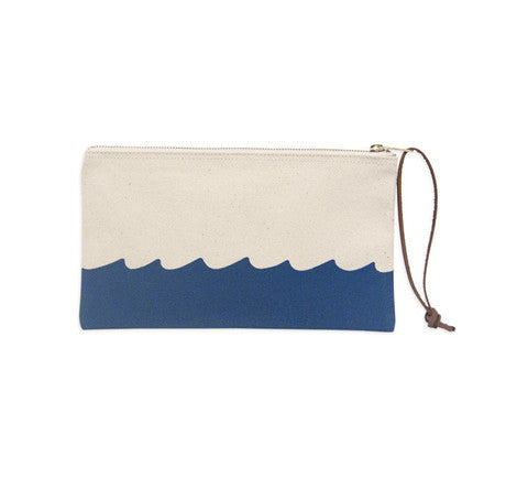 M. CARTER CO - Wave Bottom Pouch - White