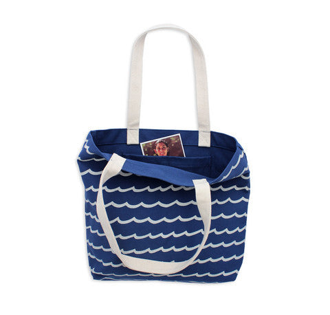 M. CARTER CO. - Wave Stripe Tote - Blue